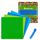 5 Stück Bauplatte für Classic Bausteine mit Steinlöser Trenner Werkzeug Plastik Grundplatte 25 x 25 cm Blau Grün Hellgrün Grau Sand
