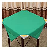Universal Mahjong Tischdecke Square Mahjong Game Tischdecke - Spieltischdecke Card Poker Mahjong-Matte - Kartenspiele Brettspiele Dominosteine Spieltisch Game Table Cover,Grün b,100 * 100cm