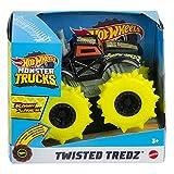 Hot Wheels GVK43 - Monster Trucks Maßstab 1:43 Rev Tredz Fahrzeuge mit Rückziehmotor, ab 3 Jahren
