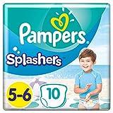 Pampers Splashers Einweg-Windeln, Grxf6xdfe 5-6, 10 Stxfcck