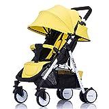 DGHJK Kinderwagen Leichte Sitzbuggys Einhand-Faltmechanismus,Liegefunktion,Travel Buggy,Sitzbuggy,mit Sonnenverdeck Regenverdeck,5-Punkt-Sicherheitsgurt,für Jungen und Mädchen ab 0 Monate -3Jahre