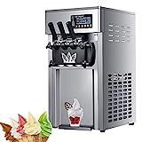 1200W kommerzielle Softeismaschine, 3 Geschmacksrichtungen Eismaschine mit Auto Clean LED-Panel, perfekt für Restaurants Snackbar Supermärkte