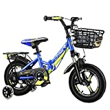 WYYY Tragbar Kinderfahrrad Für Mädchen Und Jungen BMX Faltbar Bike Ab 3-12 Jahre 12Zoll/14Zoll/16Zoll/18Zoll(Size:20in,Color:Blau)