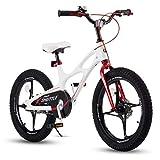 RoyalBaby Kinderfahrrad Jungen Mädchen Space Shuttle Magnesium Fahrrad Stützräder Laufrad Kinder Fahrrad 18 Zoll Weiß