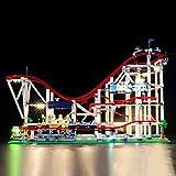 LED-Beleuchtungsset für Achterbahn – kompatibel mit Lego 10261 Baustein-Modell – Lego-Set nicht enthalten