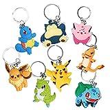 FORMIZON Schlüsselanhänger, 8 Stück Silikon Schlüsselbund, Zeichentrickfiguren, Schlüsselanhänger für Kinder Schlüsselbund, Rucksäcke, Schlüssel