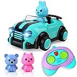 BeebeeRun Spielzeug 2 Jahre mädchen, ferngesteuertes Auto,Spielzeug für Baby Kinder Kleinkind Mädchen Jungen,Lichtern und Musik