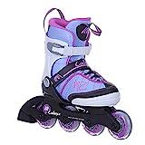 K2 Inline Skates CADENCE JR GIRL Für Mädchen Mit K2 Softboot, White - Light Blue - Pink, 30C0350