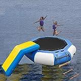 ZYQDRZ Aufblasbares Wassertrampolin, Outdoor-Wassersport-Spritzkissen Hüpfburg Wassertrampolin Aufblasbares Trampolin Wassersport-Schwimmplattform,2m / 6.5ft
