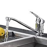 SUGU Niederdruck Küchenarmatur Spültischarmatur Küche Armatur Wasserhahn 360° Schwenkbar Mischbatterie Einhebelmischer Niederdruckarmatur Einhandhebelmischer für Untertischgerät