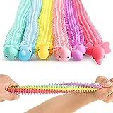 OleOletOy Stretchy Strings Sensorische Fidget Spielzeug für Kinder, und Erwachsene mit Autismus und ADHD Therapie, 6er Pack Stressabbau und Anti Angst Therapie Tools