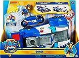 Paw Patrol Chases 2-in-1 Polizeicruiser aus dem Kinofilm, Deluxe Verwandlungsfahrzeug, mit Spielfigur und Motorrad, ab 3 Jahren