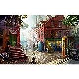 JBZC 500 Teilige Spiel Puzzles für Erwachsene Kinder City street-500 Puzzle für ErwachseneImpossible Puzzle Herausforderndes Puzzlespiel Pädagogisches intellektuelles Dekomprimieren von Spielzeug