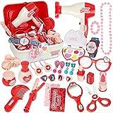 Kinder Schminkset Spielzeug Prinzessin Friseur Set mit Vielen Zubehör - 28 Stücke für 3 Jährige Mädchen
