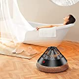YQZ Outdoor Indoor Leise Desktop Elektroheizung, 400W Mini Infrarotheizung, Instant Warm Heater