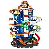 Hot Wheels GJL14 -City Robo-T-Rex, MEGAcity Parkgarage mit T-Rex Angriff, mehrstöckig, Mehrspieler-Modus, Platz für +100 Fahrzeuge im Maßstab 1:64, Geschenkidee für Kinder ab 3 Jahren