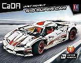 CaDA Super-Car 1:10, weiß, 10-Zylinder, 1696 Teile (OHNE Motoren, kompatibel mit Lego Technic), C61018W