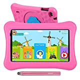 AWOW 10.1' Zoll Kinder Tablet,2GB RAM 16GB ROM,Kindersicher iWawa APP& Google Play Vorinstalliert, WiFi&Blutooth,Android 10 Tablet für Kinder mit Touchstift, kindgerechter Hülle Rosa
