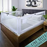 Kids Supply Bettgitter [180x80 cm]- Extrem sicheres & höhenverstellbares Bettschutzgitter [70-90 cm]- Rausfallschutz Bett für Kinder Bett & Elternbett