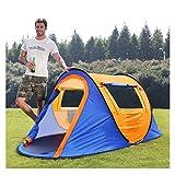 LZL Zelt Automatische Pop-Up-Camping-Zelt 4 Personen mit 2 Mesh-Türen und 2Mesh Windows-Regendicht Sofort Zelt for Outdoor Campingzelte (Color : Blue)