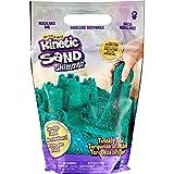 Kinetic Sand 6060801 Schimmersand Petrol, 907 g blaugrüner Glitzersand für Indoor-Sandspiel