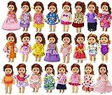 ZITA ELEMENT 6er Fashionistas Puppen Kleid Kleidung für Puppe Kleider Bekleidung Mädchen Spielzeug Minipuppen Abendkleid