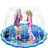 Magicfun Splash Pad, 172cm Wasserspielzeug Spielmatte für Kinder , Sprinkler und Splash Play Matte mit Meerestiere, Jungen und Mädchen Sommer Wasser-Spielmatte für Garten Strand Outdoor Spaß