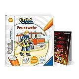 Collectix Ravensburger ® tiptoi Buch 4-7 Jahre   Pocket Wissen - Feuerwehr + Kinder Feuerwehr Fahrzeuge Poster   Pocketwissen, Tip TOI, unterwegs, klein