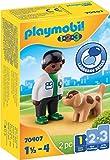 PLAYMOBIL 1.2.3 70407 Tierarzt mit Hund, Ab 1,5 bis 4 Jahre