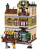 Building Blocks House Kit, modulare Gebäude, Street View römisches Restaurant modulare Food Street mit Figuren, Architekturhäuser Modell kompatibel mit Lego 4 in 1 QL0937