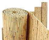 Schilfrohrmatte Premium, 100 x 300cm Sichtschutzmatte von Bambus-Discount Schilfmatten