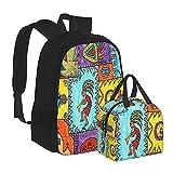 Schulranzen Rucksack Southwestern Kokopelli Südwest Amerika Kunst für Schule College Mädchen Kinder Büchertasche Set Wasserdicht Computer Laptop Casual Tasche mit Isolierter Lunchtasche