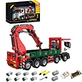 VSEG Technik LKW mit Kran, 3925 Teile Technik kranwagen Ferngesteuert Auto mit 8 Motoren Bausatz Kompatibel mit Lego Technik