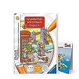 Ravensburger tiptoi ® Englisch Buch   Grundschulwörterbuch Englisch + Kinder Weltkarte - Länder, Tiere, Kontinente