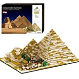 HYZM Architektur Ägypten Pyramide Bausteine, 1456 Stücke Nano Mini Blocks Ägypten Architekturmodellbausatz, Architecture Modell Nicht Kompatibel mit Lego