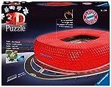 Ravensburger 3D Puzzle 12530 - Allianz Arena bei Nacht - FC Bayern München Fanartikel, 3D Puzzle für Erwachsene und Kinder ab 8 Jahren, Leuchtet im Dunkeln