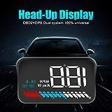 """SWOO CAR 3.5 """" M7 Auto Head Up Display Full HD HUD OBD GPS LED Armaturenbrett Projektor Geschwindigkeit Warnsystem Kompatibel mit allen Autos/Plug & Play (M7)"""