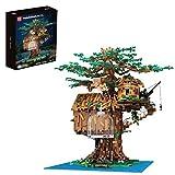 Myste Baumhaus Bausteine Modell mit Luxus LED-Licht, Mold King 16033, 3958+ Klemmbausteine Angepasst Kit Tree House für Lego 21318 baumhaus
