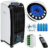 KESSER® 4in1 Mobile Klimaanlage | Fernbedienung | Klimagerät | Ventilator Klimaanlage | 8 L Tank | Timer | 3 Stufen | Ionisator Luftbefeuchter | Luftkühler | Weiß