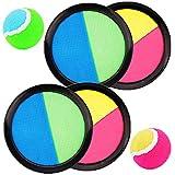 Miotlsy Klettballspiel 19 cm in Premium Qualität Fangballspiel Klett-Ballspiel für Kinder & Erwachsene Hochwertiges Fangball-Spiel ideal als Spielzeug & Beschäftigung für Draussen im Garten