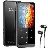 AGPTEK MP3 Player, 32GB Bluetooth 4.2 MP3 Player mit Kopfhörer, 2.4 Zoll TFT Bildschirm, FM, FM-Record,HiFi, Zufallswiedergabe, Schwarz