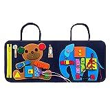 waysad Baby Spielzeug Lernspielzeug Basic Skills Board Developmental Toy für Kinder Baby Dressing Lernbrett Lebenskompetenzen Praxis Filz Stoffbuch für Kinder