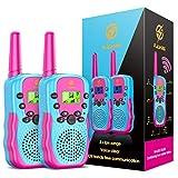 EUCOCO Walki Talki Kinder ab 3-11 Jahre, Geschenk Mädchen 3 4 5 6 7 8 Jahre Spielzeug ab 3-12 Jahre für Mädchen Geburtstagsgeschenk für Mädchen 3-12 Jahre 3-12 Jährige Mädchen Geschenk Rot - Blau