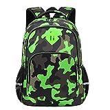 Yvechus Schulrucksack Casual Daypack Reisen Outdoor Camouflage Rucksack Weihnachten Geschenke für Jungen und Mädchen - Grün - Einheitsgröße