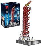 MOMAMO 3586 Stück Technik Raketenwerfer Modellbausatz Kompatibel mit Lego 21309 NASA Apollo Saturn V Raketenwerfer Baustein Modellbausatz MOC Klemmblöcke