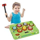 Klopf Hämmerspielzeug für Kinder,Hammerspiel Angelspiel, Interaktives Spielzeug,Entwicklungskinderspiele Musik Klopfspiel für Kinder Kleinkinder,Lernspielzeug Geschenk für Jungen Mädchen
