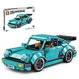 TRCC Technik Retro Sportwagen Bausteine Modell für Porsche 911, 717 Teile Bausteine Oldtimer Auto Zurückziehen, Kompatibel mit Lego
