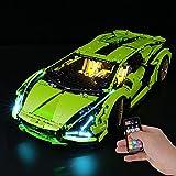 BRIKSMAX Led Beleuchtungsset für Lego Lamborghini Sián FKP 37,Kompatibel Mit Lego 42115 Bausteinen Modell - Ohne Lego Set (Fernbedienungsversion)