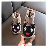 Youpin Kaninchenohren Stiefel Mädchen Weilding Kleinkind Winterstiefel Warm Pelz Winter Schuhe Für Mädchen Bow Band Baby Schneeschuhe Kinder Schuhe C11181 (Color : Brown2, Shoe Size : 11)