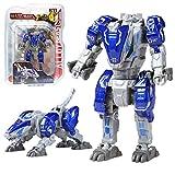 Sanggi Transformator Roboter, 2 Morphologische Transformationen Kinder Roboter Spielzeug, 16 Bewegliche Gelenke Verwandlung Legierungen Roboter, 10x5x4.5cm (Blauer Leopard)